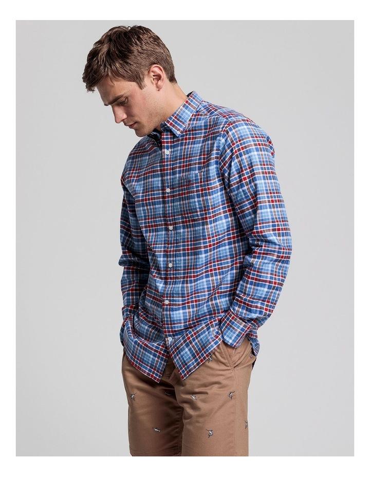 Preppy Oxford Plaid Long Sleeve Shirt image 1