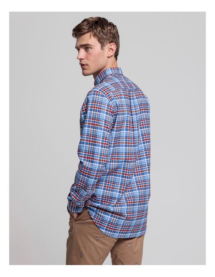 Preppy Oxford Plaid Long Sleeve Shirt image 2