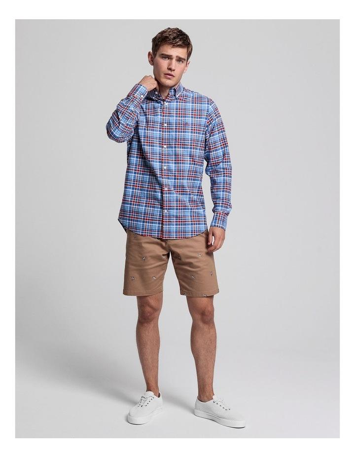Preppy Oxford Plaid Long Sleeve Shirt image 3