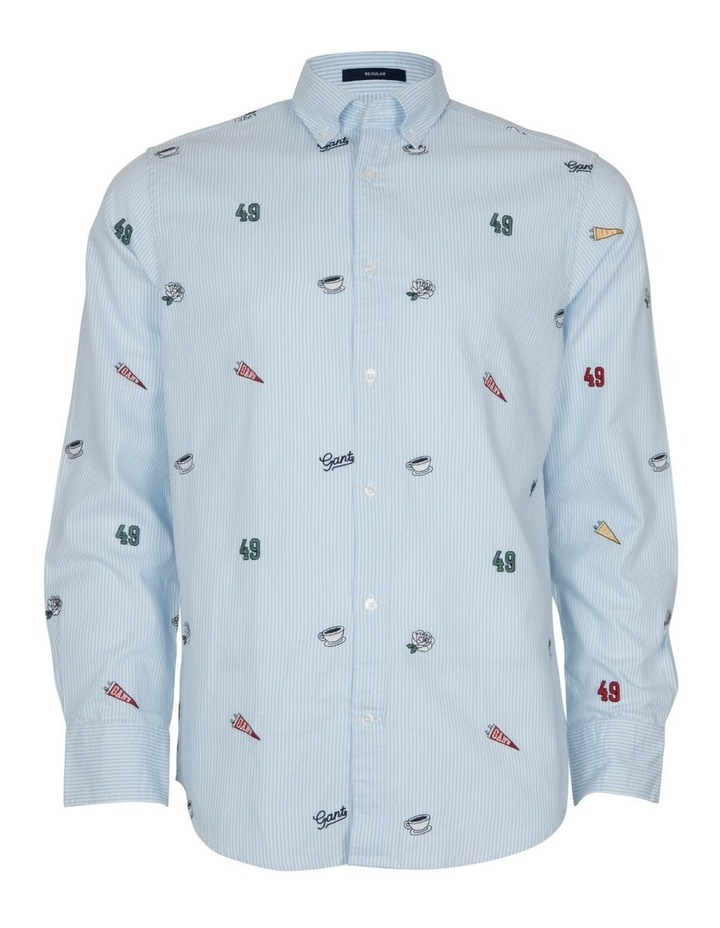 Embroidered Oxford Banker Long Sleeve Shirt image 1