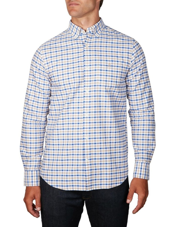 The Oxford 2 Col Gingham Regular Long Sleeve Shirt image 1
