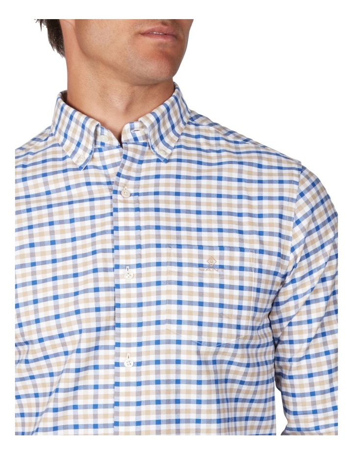 The Oxford 2 Col Gingham Regular Long Sleeve Shirt image 3