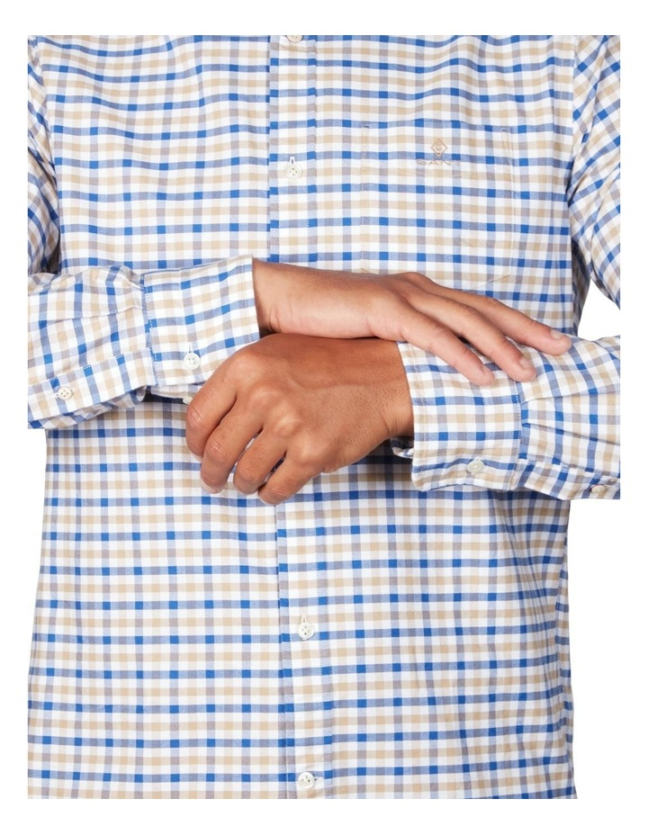 The Oxford 2 Col Gingham Regular Long Sleeve Shirt image 4