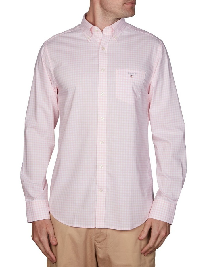 Regular Broadcloth Gingham Long Sleeve Shirt image 1