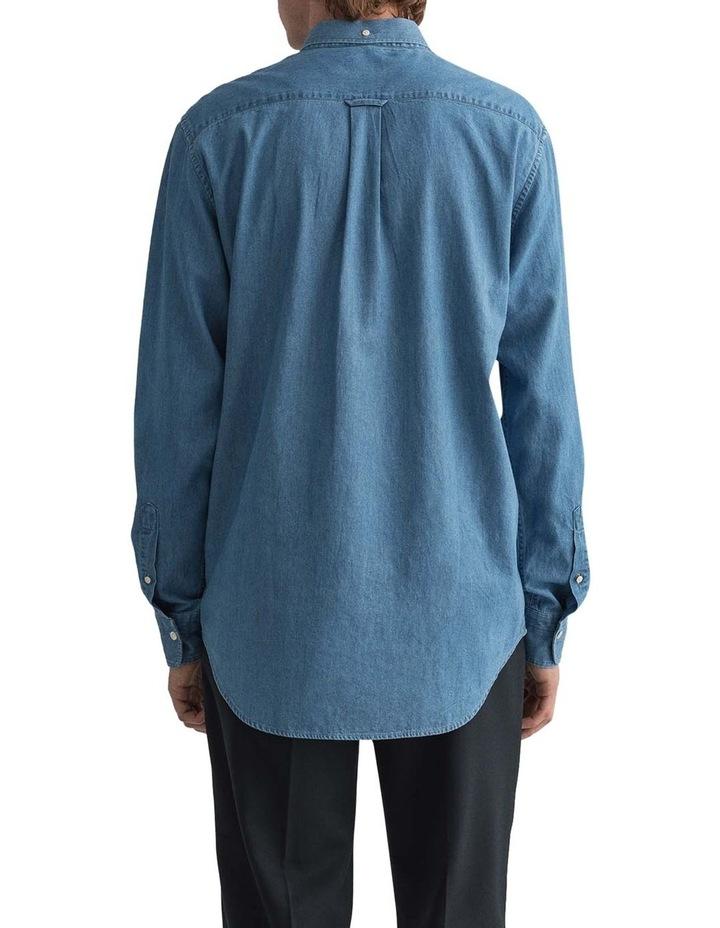 Indigo Long Sleeve Broadcloth Shirt image 2