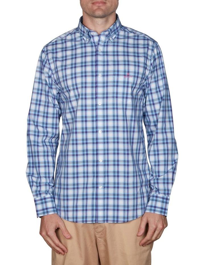 Tech Prep Regular Multi Check Broadcloth Long Sleeve Shirt image 1