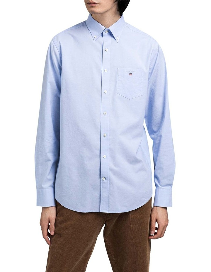 Regular Broadcloth Long Sleeve Shirt Blue image 1