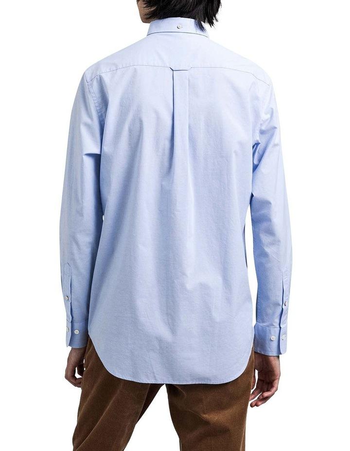 Regular Broadcloth Long Sleeve Shirt Blue image 2