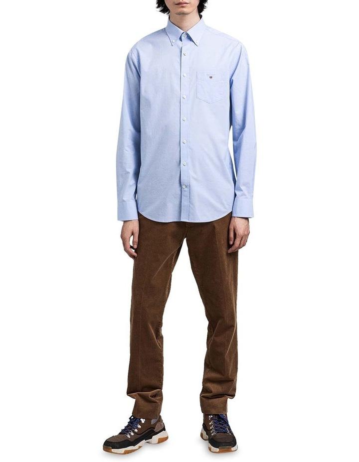 Regular Broadcloth Long Sleeve Shirt Blue image 3