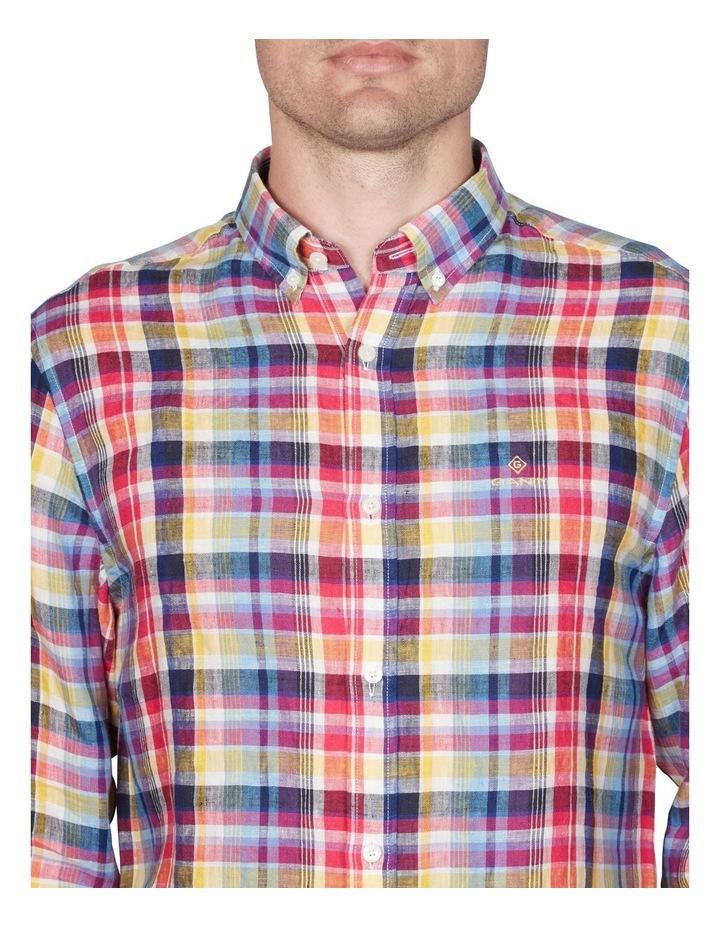Regular Linen Madras Long Sleeve Broadcloth Shirt image 2