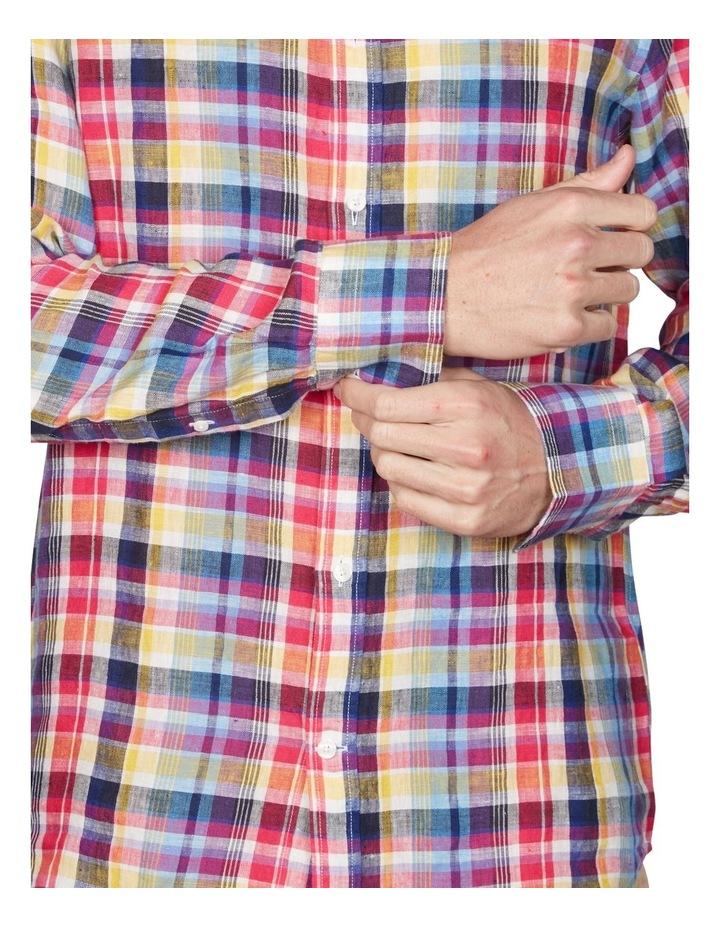 Regular Linen Madras Long Sleeve Broadcloth Shirt image 3
