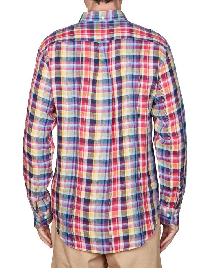 Regular Linen Madras Long Sleeve Broadcloth Shirt image 4