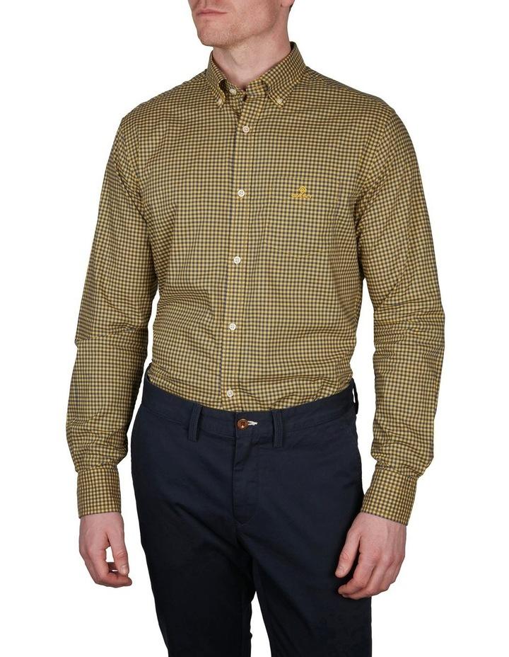 Regular Fit 2 Colour Gingham Long Sleeve Shirt Yellow image 1