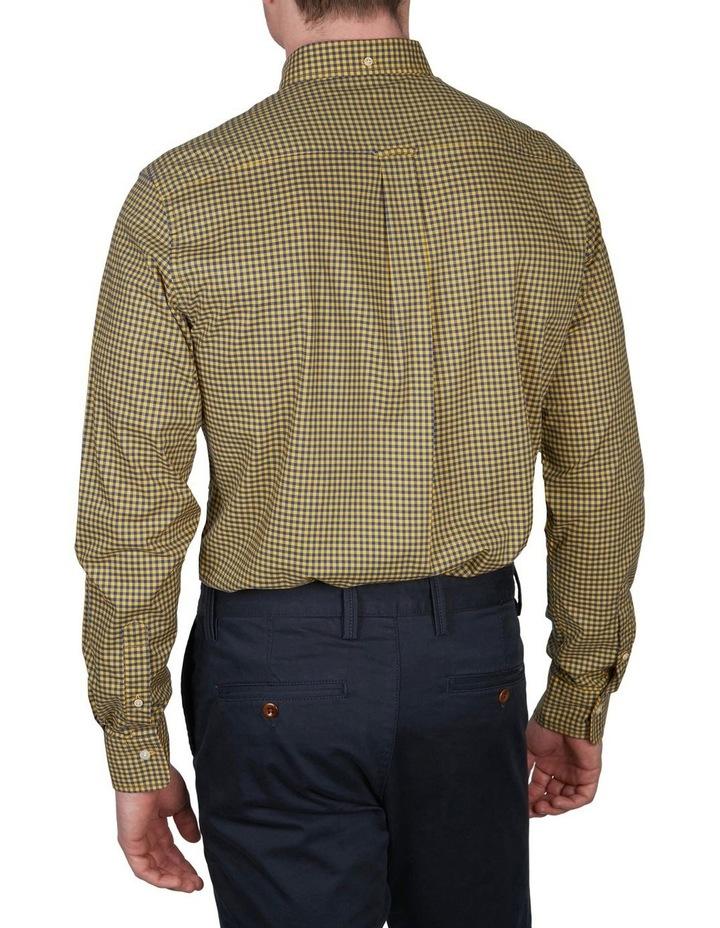 Regular Fit 2 Colour Gingham Long Sleeve Shirt Yellow image 2