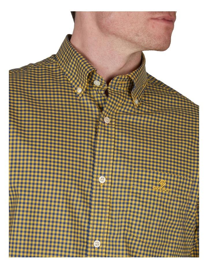 Regular Fit 2 Colour Gingham Long Sleeve Shirt Yellow image 3