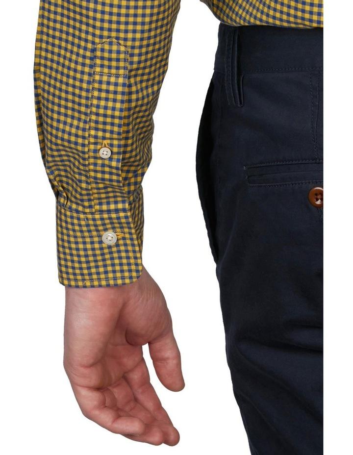 Regular Fit 2 Colour Gingham Long Sleeve Shirt Yellow image 4