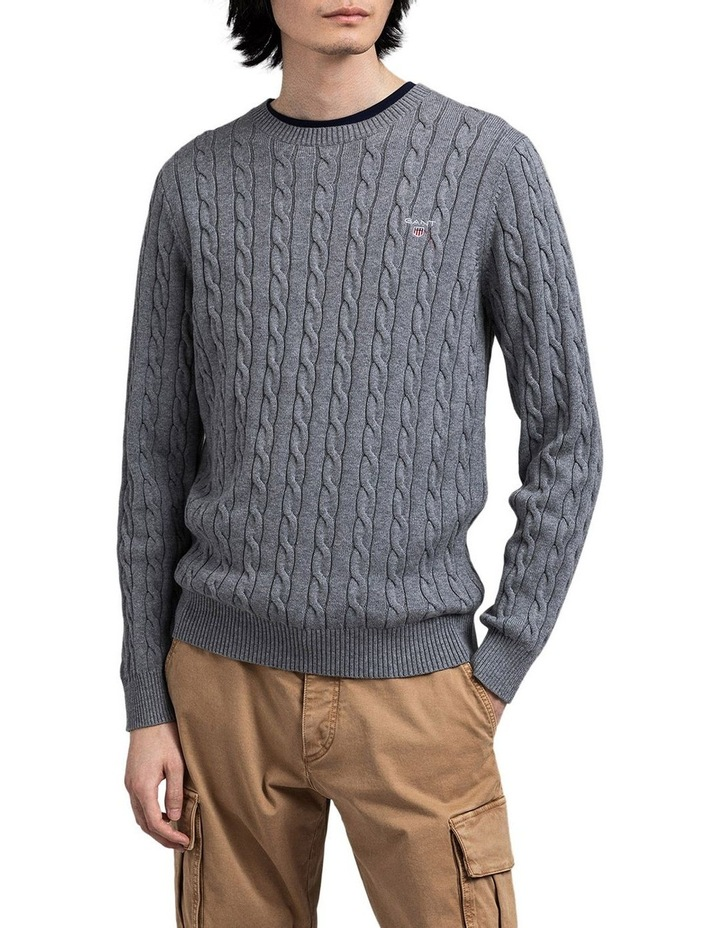 Cotton Cable Crew-Neck Knit image 1