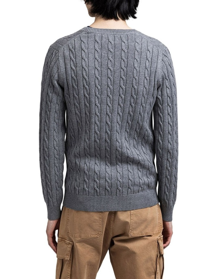 Cotton Cable Crew-Neck Knit image 2