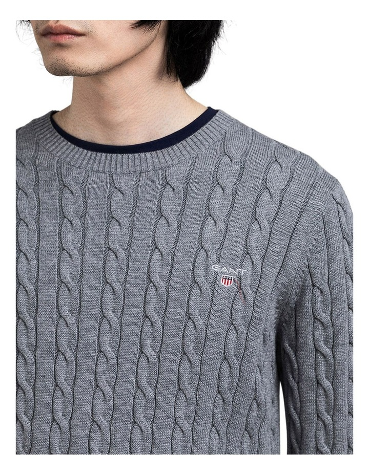 Cotton Cable Crew-Neck Knit image 3