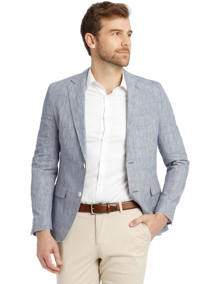 Dover Check Linen Blend Blazer image 1