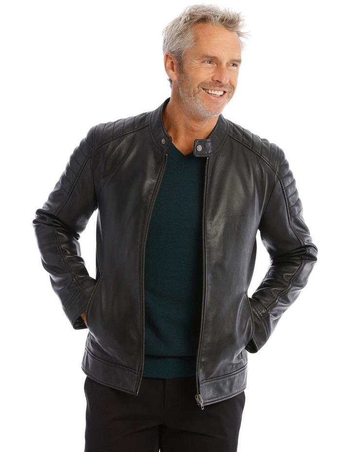 Lucaston Leather Biker Jacket image 1
