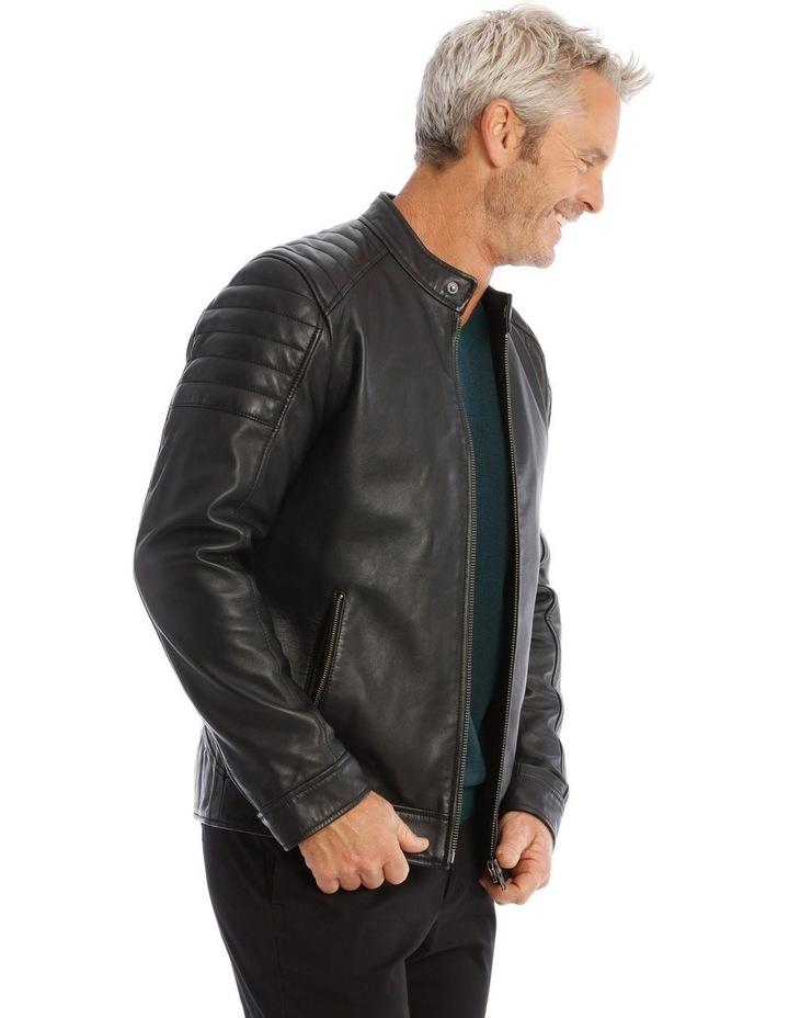 Lucaston Leather Biker Jacket image 2