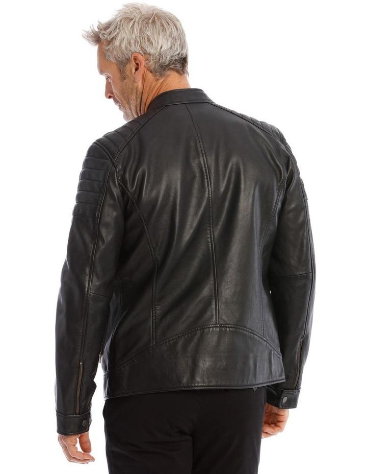 Lucaston Leather Biker Jacket image 3