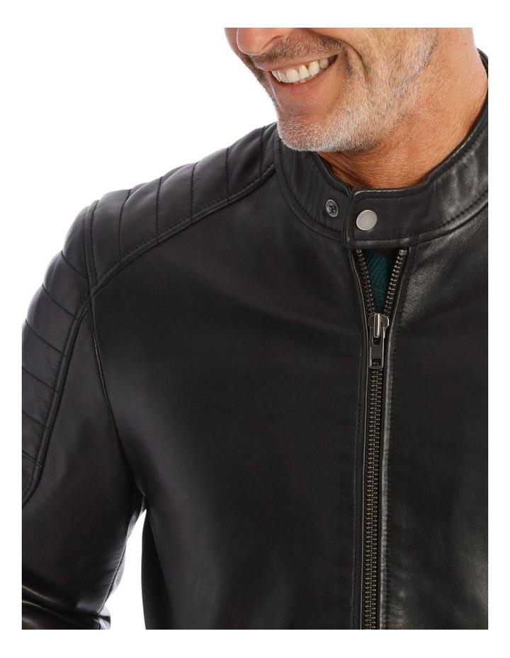 Lucaston Leather Biker Jacket image 4