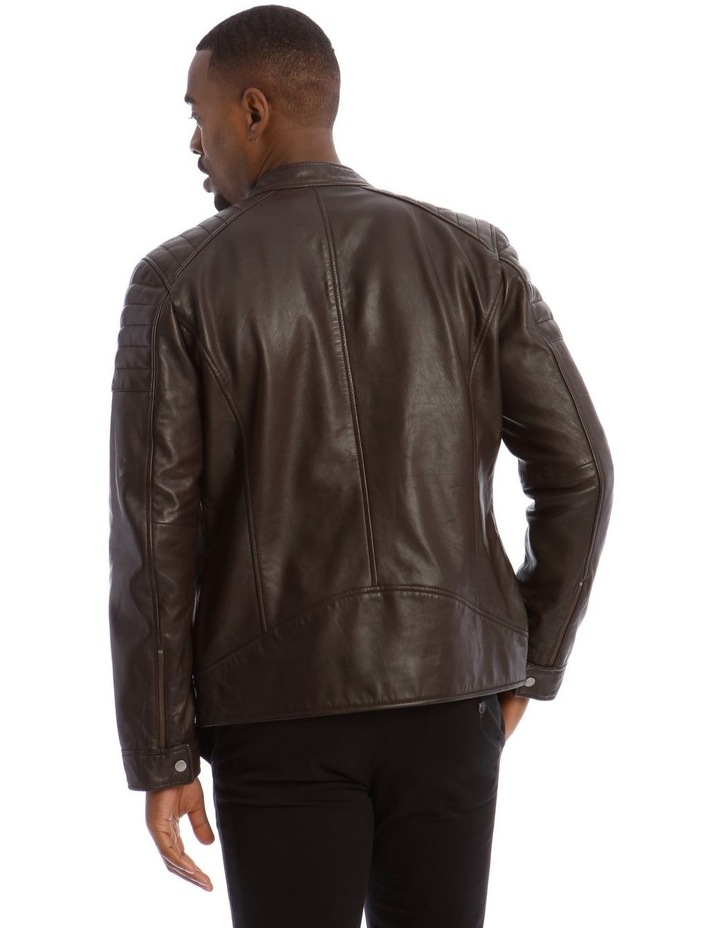 Lucaston Biker Leather Jacket image 3