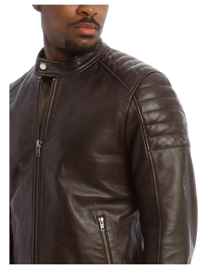 Lucaston Biker Leather Jacket image 4