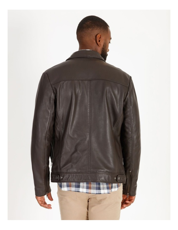 Montague Collar Leather Jacket image 3