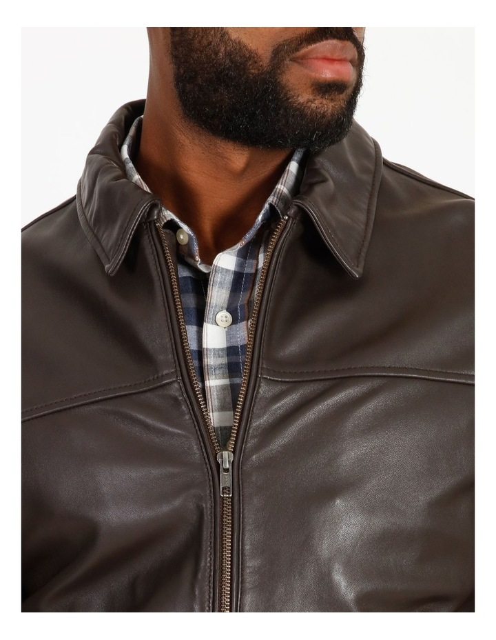 Montague Collar Leather Jacket image 4