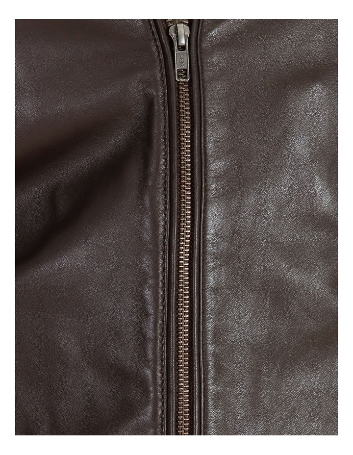 Montague Collar Leather Jacket image 5