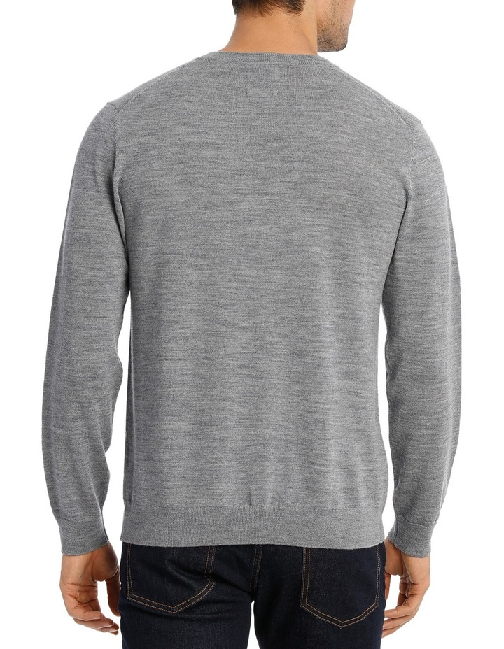 Merino V-neck knit Grey Marle image 3