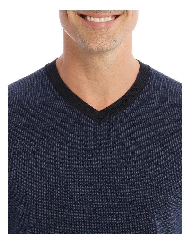 Hambleton V-Neck Knit In Navy image 4