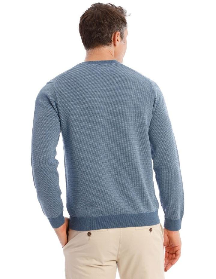 Hambleton V-Neck Knit In Blue image 3