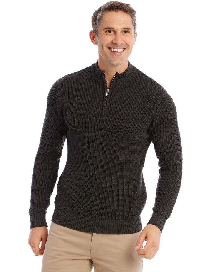 Richmond Quarter-Zip Knit In Charcoal image 1