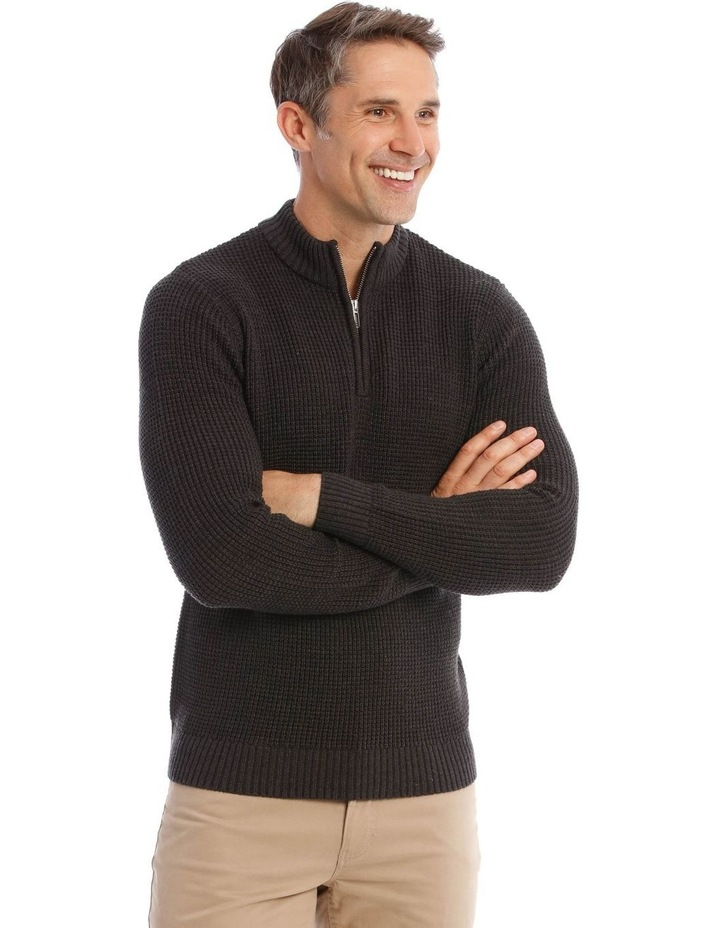 Richmond Quarter-Zip Knit In Charcoal image 2