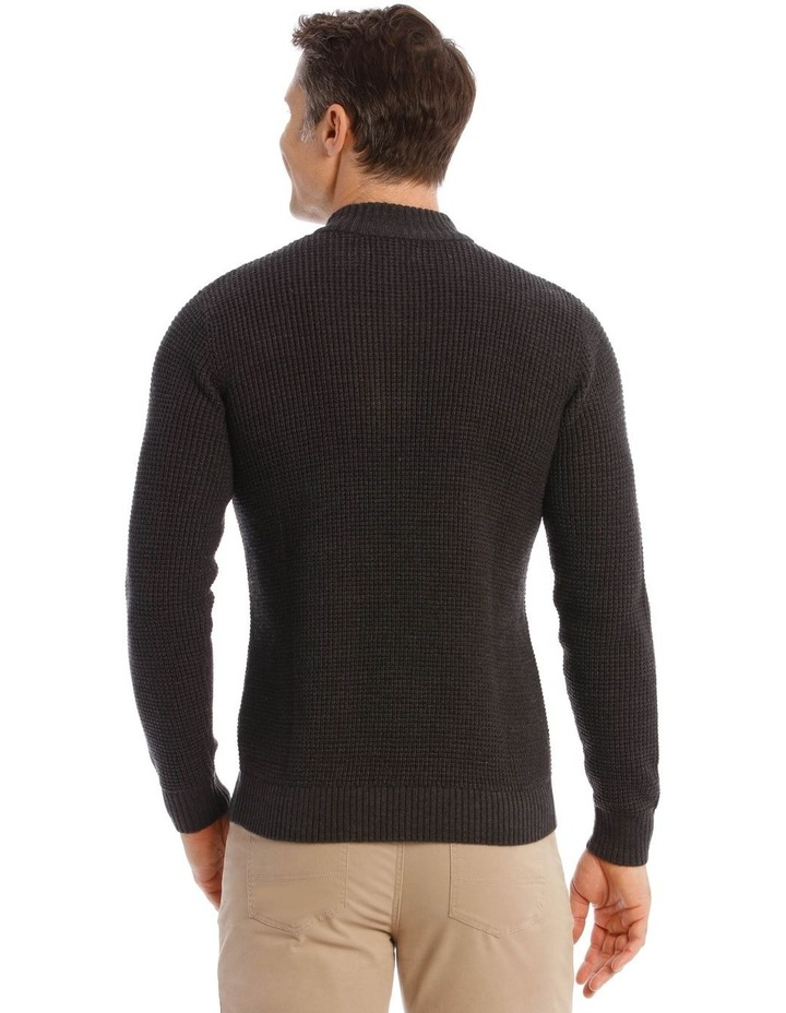 Richmond Quarter-Zip Knit In Charcoal image 3