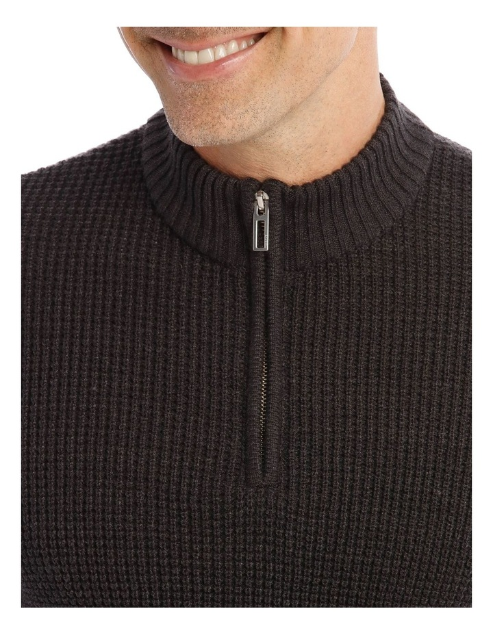 Richmond Quarter-Zip Knit In Charcoal image 4