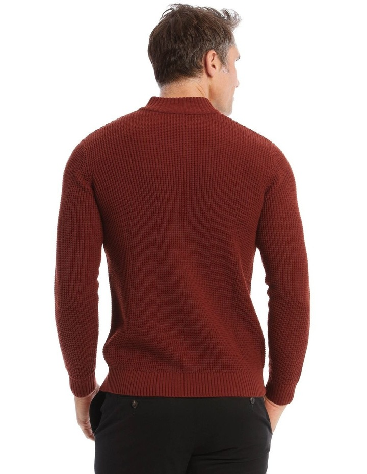 Richmond Quarter-Zip Knit In Rust image 3