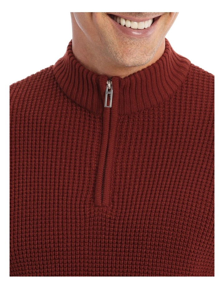 Richmond Quarter-Zip Knit In Rust image 4