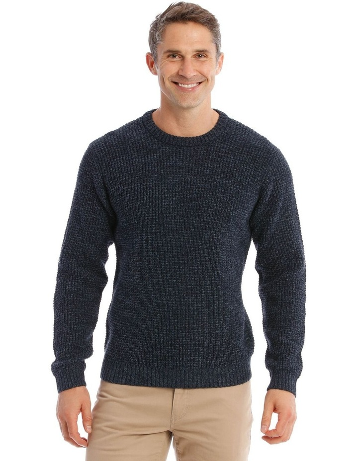 Lexham Textured Crew Knit In Navy image 1