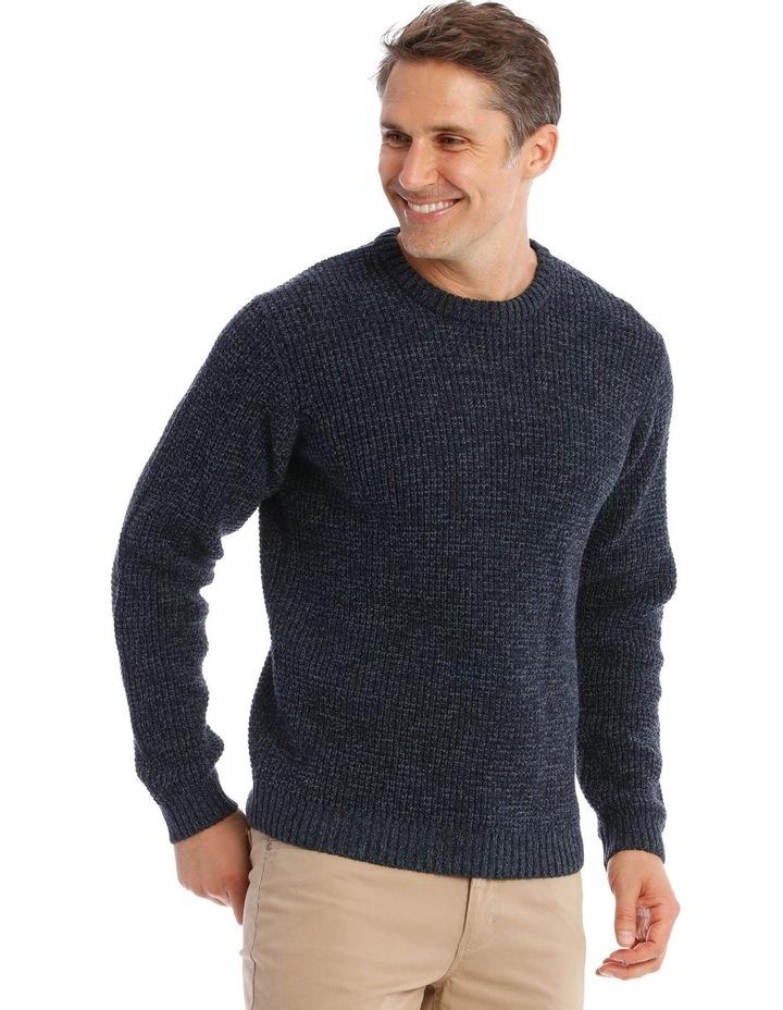 Lexham Textured Crew Knit In Navy image 2
