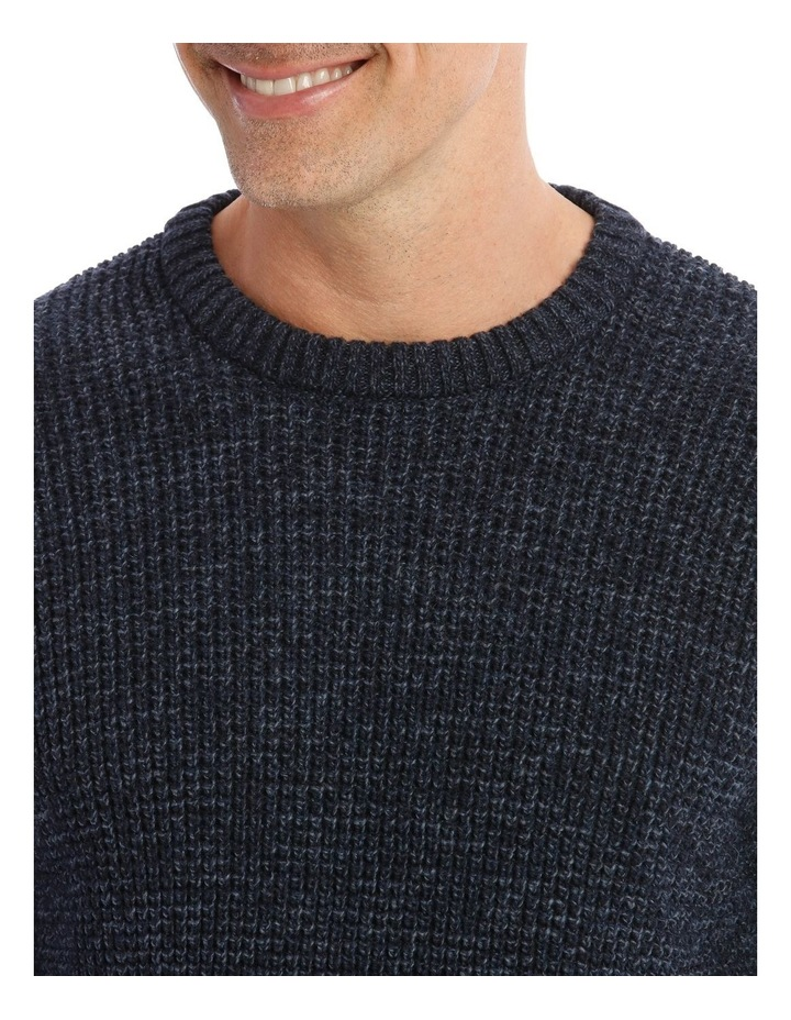Lexham Textured Crew Knit In Navy image 4