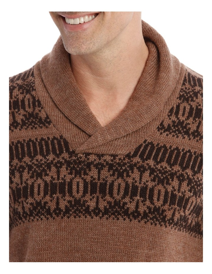 Crofton Fair Isle Knit Top In Donkey Brown image 4