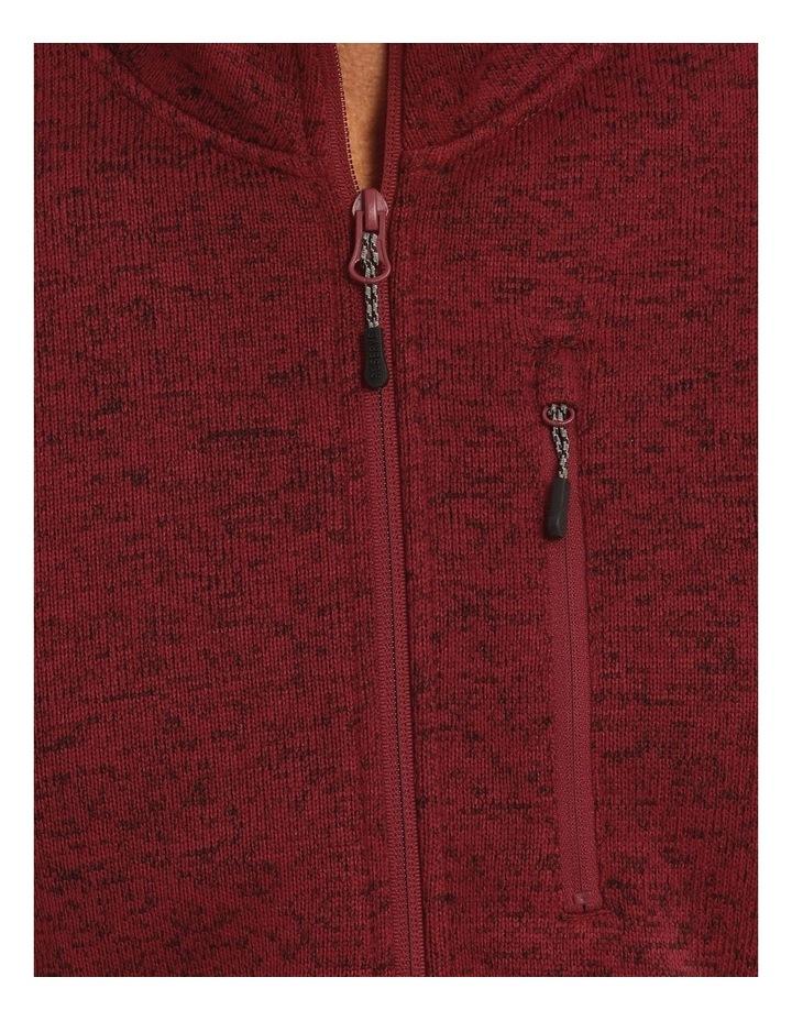 Ribble Valley Fleece Sweat-Top In Red image 2