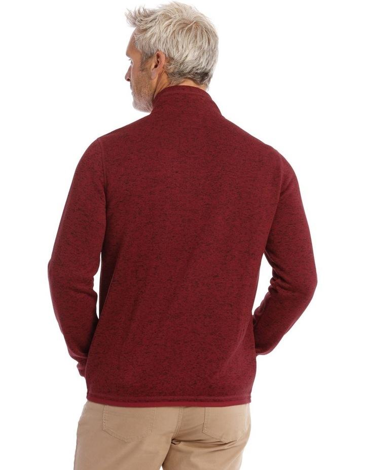 Ribble Valley Fleece Sweat-Top In Red image 4