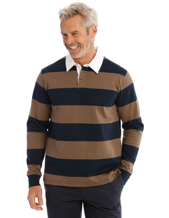 Earlham Block Stripe Rugby Shirt image 1