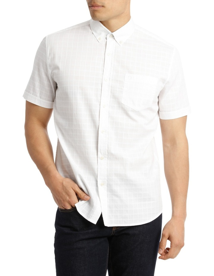 Short Sleeve Lindeman Textured Plain Shirt image 1
